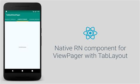 android layout components react native ui component for viewpager with tablayout