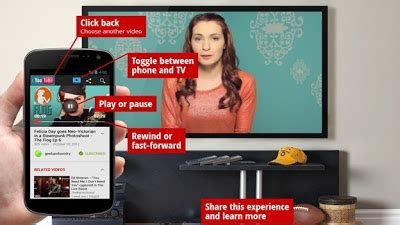 accessing youtube xl on the television enjoy youtube on tv with the feature send to tv of