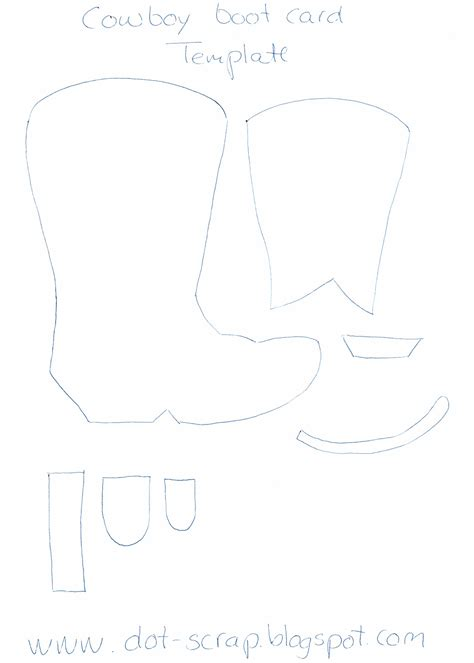 cowboy boot template free wellington boot outline coloring pages