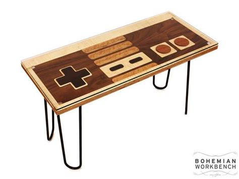 Controller Coffee Table The Handmade Nes Controller Coffee Table Gadgetsin