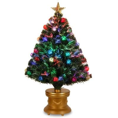 36 quot fiber optic fireworks tree with ball ornaments
