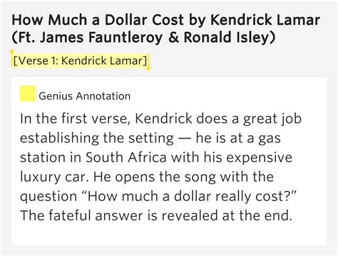 how much does a section 32 cost verse 1 kendrick lamar how much a dollar cost