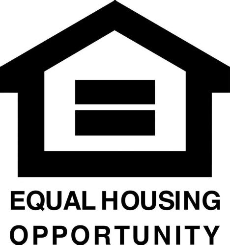 equal opportunity housing equal opportunity fair housing vinyl decal 4x4 black