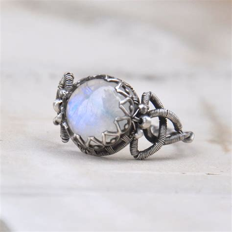 Handmade Rings - celtic moon wire wrapped ring by eire handmade on deviantart