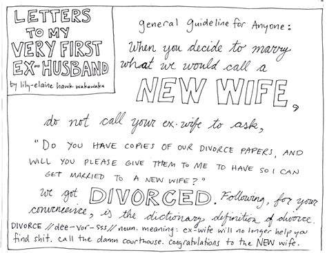 Divorce Letter To Your Husband letters to my ex husband learns to