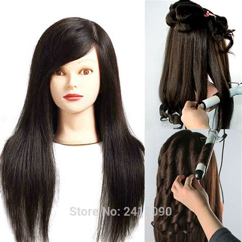 Hairstyle Mannequin Human Hair by 100 Human Hair Mannequin Hairdressing Doll Wig