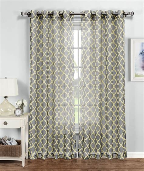 amazon window drapes amazon com window elements morocco printed sheer extra