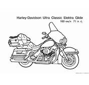 Free Motorcycle Coloring Page Letscoloringpagescom
