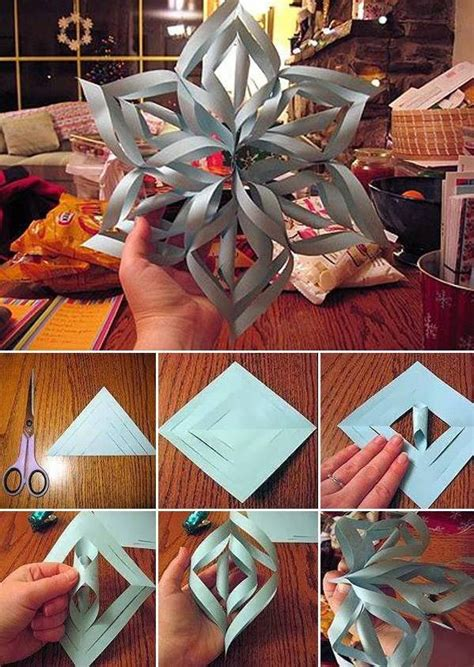 How To Make Snowflake Decorations Out Of Paper - 16 absolutely adorable diy decorations