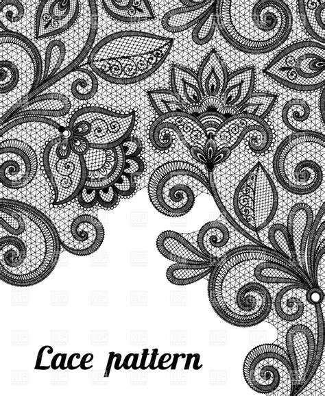 lace pattern vector art black lace background floral black lace pattern