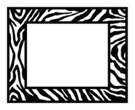 zebra templates for word free zebra print border clipart best