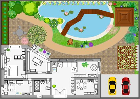 landscape layout visio how to draw a landscape plan