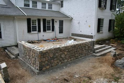 How To Build A Raised Paver Patio Raised Patio Built With Pavers Pictures