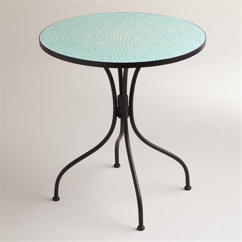 Mosaic Bistro Table Aqua Blue Cadiz Mosaic Bistro Table World Market