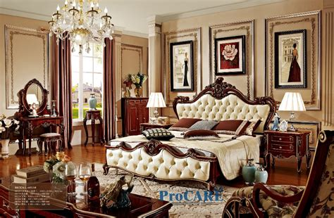 baroque bedroom furniture luxury solid rose wood and leather bed baroque bedroom