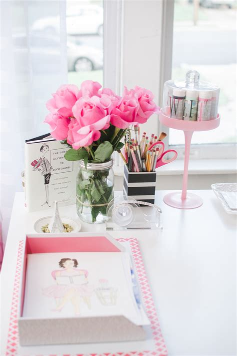 Pink Office Desk Accessories Pops Of Pink In Every Room Yes