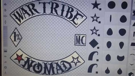 War Tribe Nomads Mc Made In Emblem Creator By Demigunz Pres Of War Tribe Mc Youtube Mc Patch Template