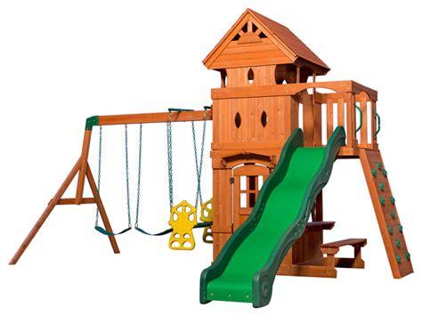 skyfort 11 cedar swing set backyard discovery monterey all cedar wood playset