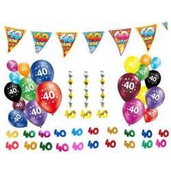 pack d 233 co anniversaire 40 ans 40 pi 232 ces guirla achat