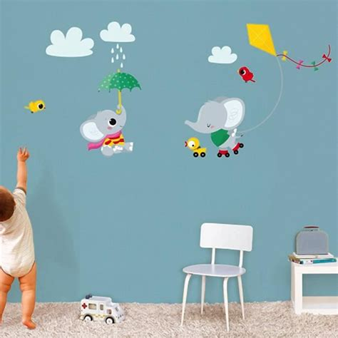 stickers muraux chambre enfant stickers muraux decoration chambre bebe elephant cerf