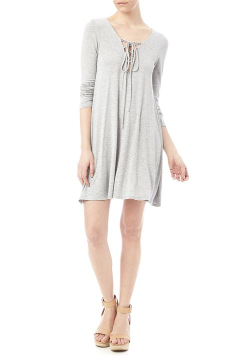 For St In A Back Lace Up Detail Tunic by Loving Lace Up Detail Dress From Dakota By