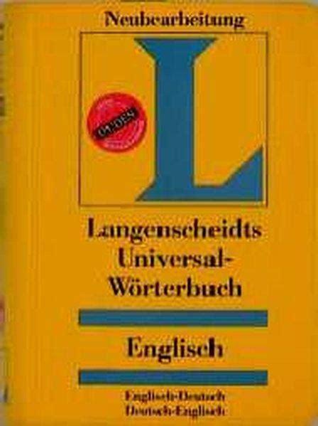 Rechnung Amerikanisches Englisch Langenscheidts Universal Woerterbuch Englisch Zvab