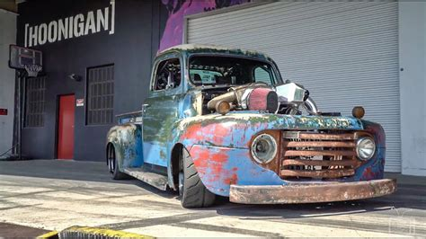 hoonigan truck this phenomenal 1200hp turbo diesel rat rod will