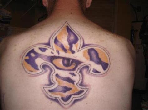 lsu tattoos lsu fleur de lis picture at checkoutmyink
