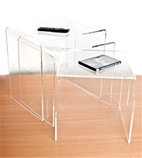 acrylic kitchen table clear acrylic nest of tables set of 3 co uk