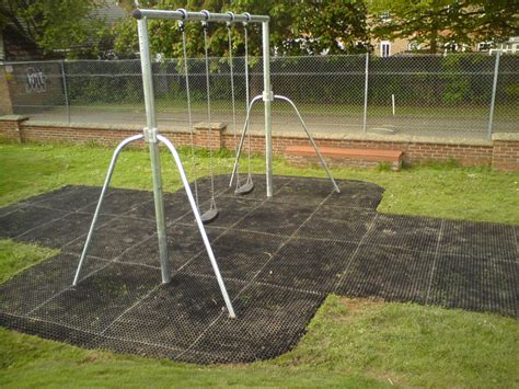 mats for under swings rubber play surfaces installed for playground flooring