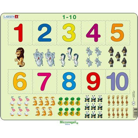 lettere e numeri per bambini puzzle impara i numeri 0 10 cm 36x28 10 pezzi per bambini
