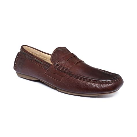 frye s loafers frye west loafers in brown for lyst