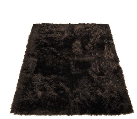 Fur Area Rug Classic Brown Faux Fur Rectangle Rug Area Rugs By