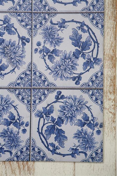 blue and white floor l trompe l oeil floor mat delft wreath blue