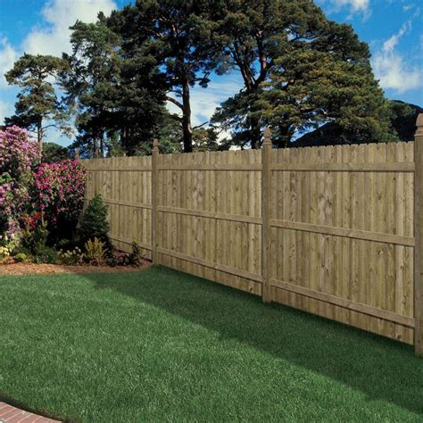 lowes ear fence shop 6 ft x 8 ft spruce ear pressure treated wood fence privacy panel at lowes