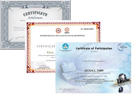 cetak sertifikat piagam dengan print digital offset printing bali