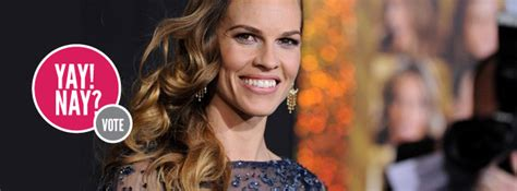 Yay Or Nay Hilary Swank At Ps I You Premiere In Lhuillier by Yay Or Nay Hilary Swank S Carpet Style