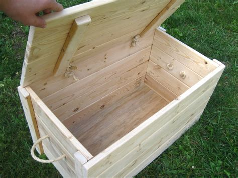 large wooden storage box  lid