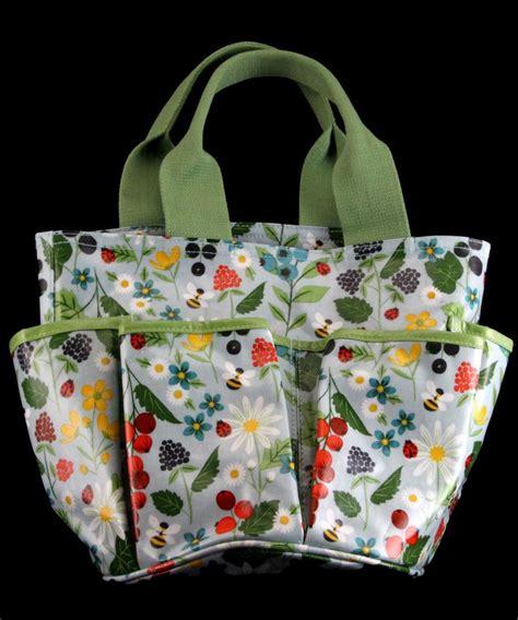 Garden Tool Bag by Gisela Graham Large 36cm Floral Kitchen Garden Print