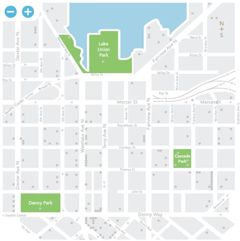 seattle map lake union to go green cities and companies look to meaningful