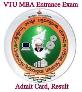 Mba Cet 2017 Admit Card by Vtu Univ Mba Entrance Admit Card 2018 Test Date Results