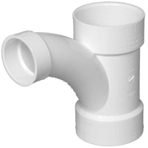 pipe 4 in x 4 in x 3 in dwv pvc comb wye and