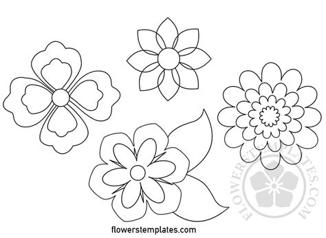 flower templates  printable flowers templates
