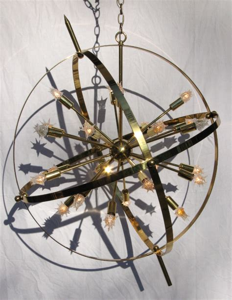 Armillary Chandelier Large Brass Sputnik Armillary Chandelier
