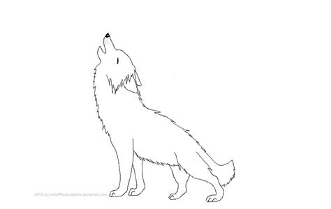 Outlines Of Wolves by Howling Wolf Outline Drawing Www Imgkid The Image Kid Has It