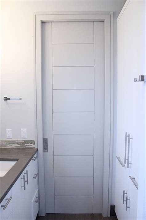 Modern Pocket Doors Interior Modern Pocket Door Contemporary Interior Doors By Architectural Impressions