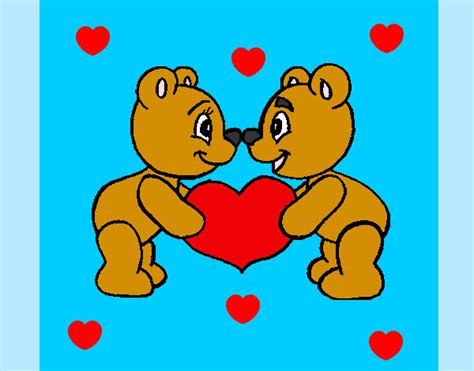 imagenes de amor para dibujar pintados dibujo de osos amorosos pintado por stawberry en dibujos