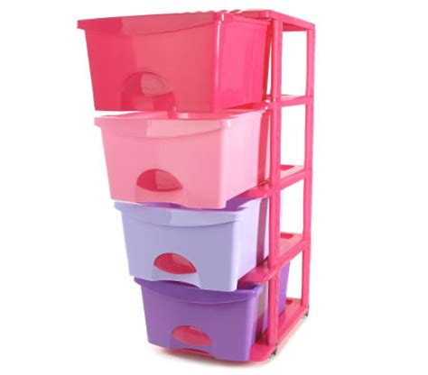 Plastic Pull Out Storage Drawers by Plastic Storage Drawers Shelf 4 Levels With Slide Out