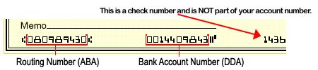 dda bank account check payment helpful information
