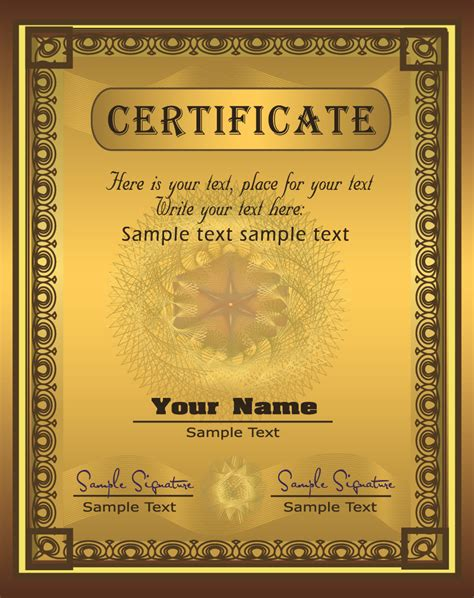long form seal gold printable free diploma certificate